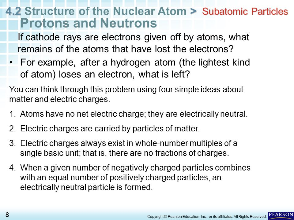 Protons and Neutrons Subatomic Particles