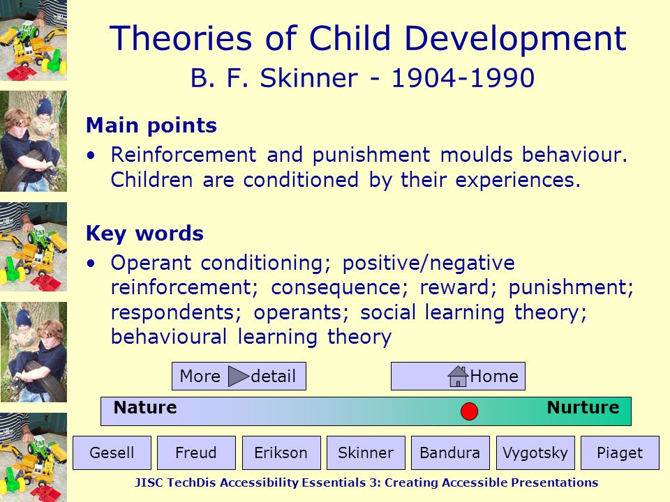 B. F. Skinner - 1904-1990 Main points
