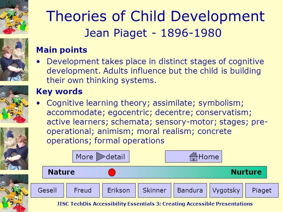 Jean Piaget - 1896-1980 Main points