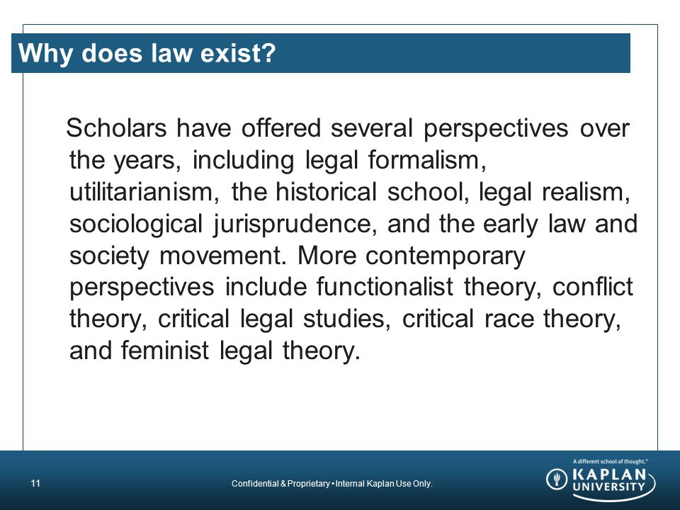 Why does law exist