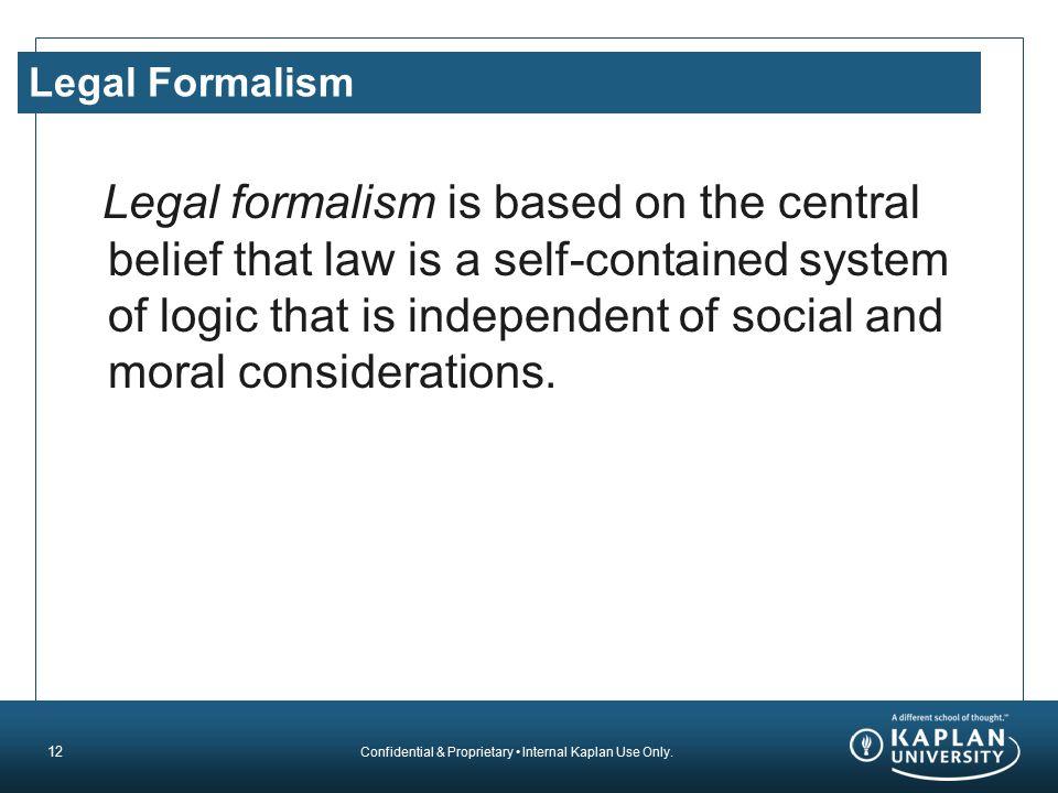 Legal Formalism