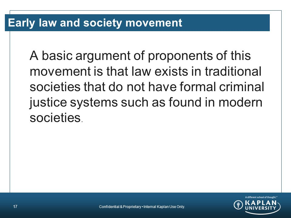 Early law and society movement
