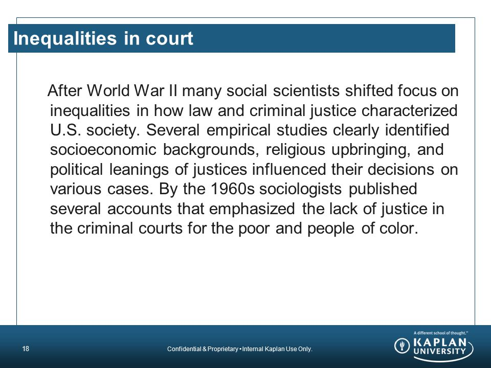 Inequalities in court