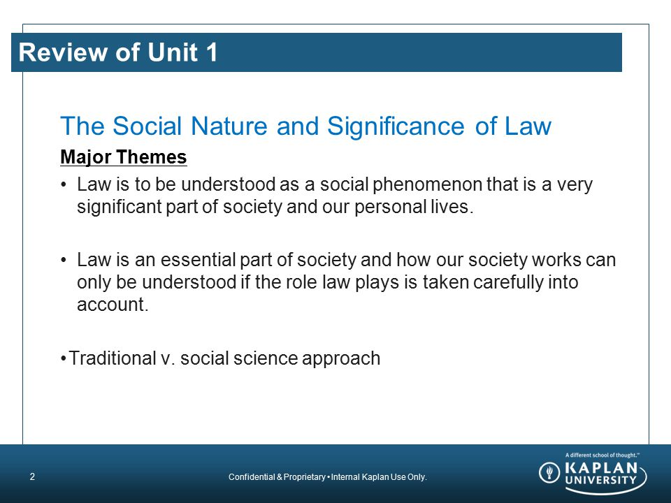 The Social Nature and Significance of Law