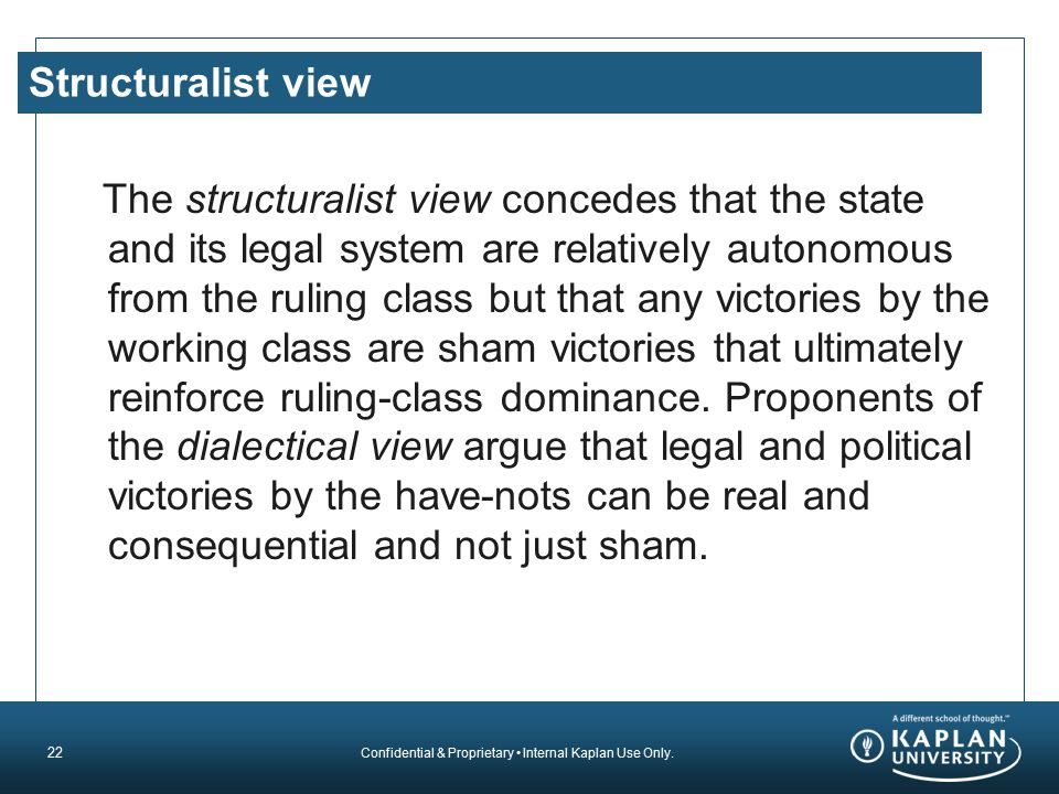 Structuralist view