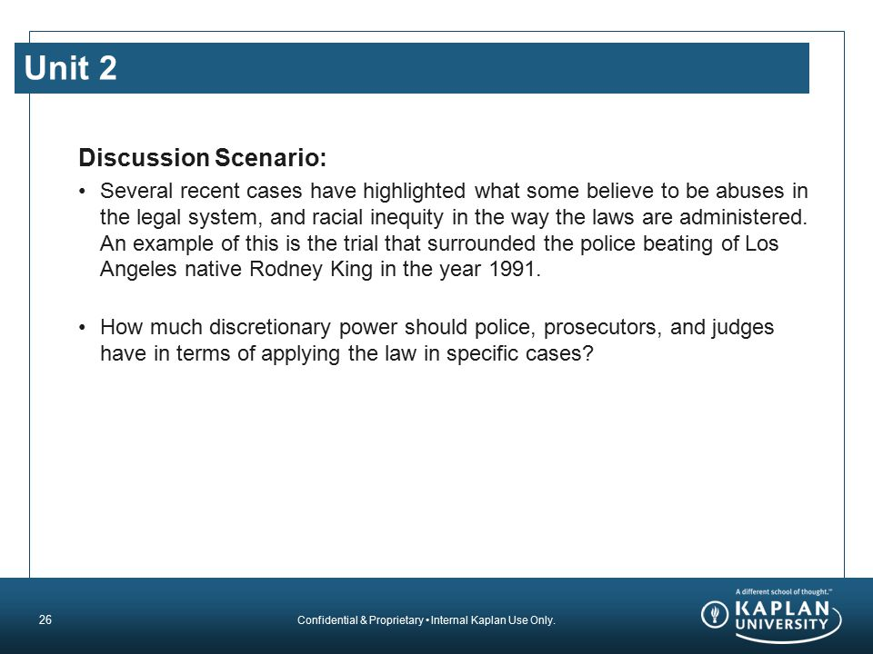 Unit 2 Discussion Scenario: