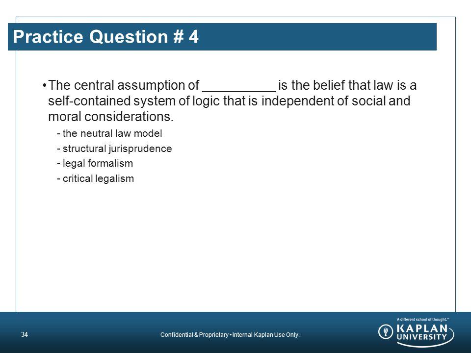 Practice Question # 4