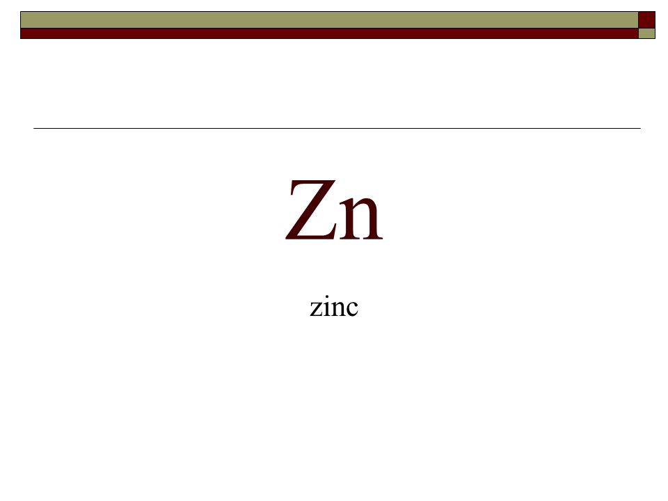 Zn zinc