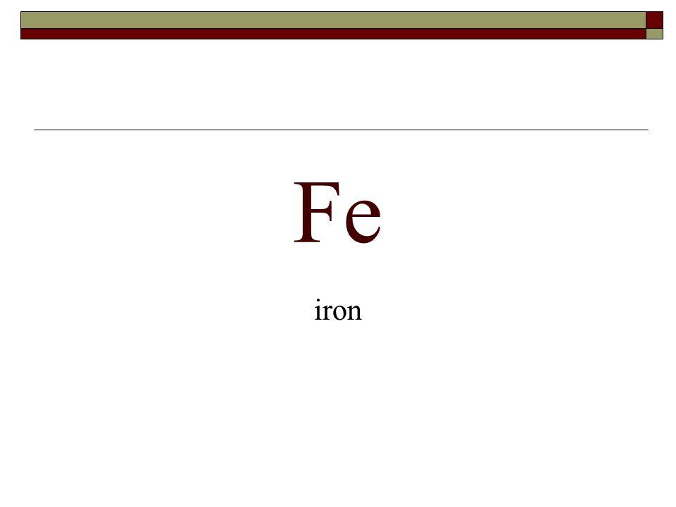 Fe iron