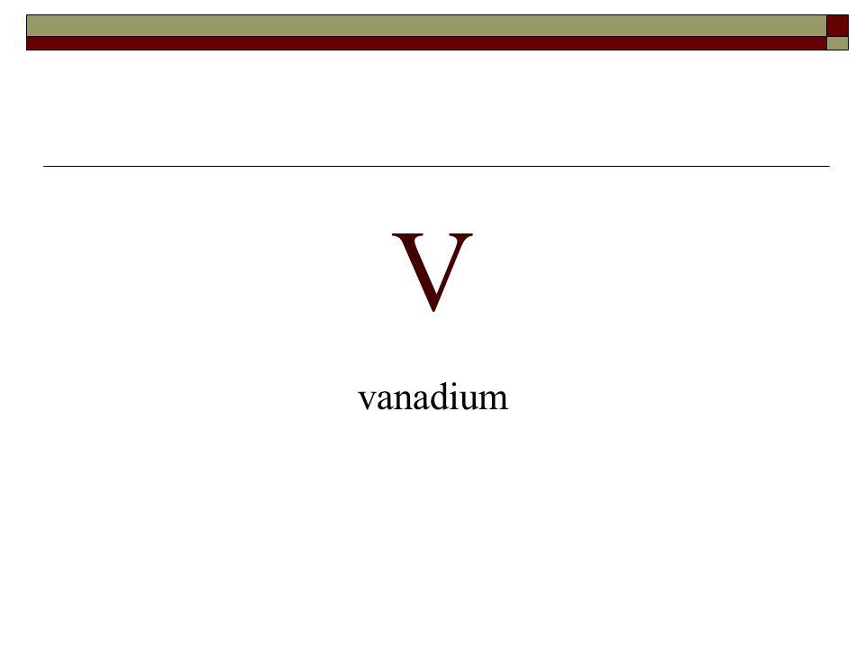 V vanadium
