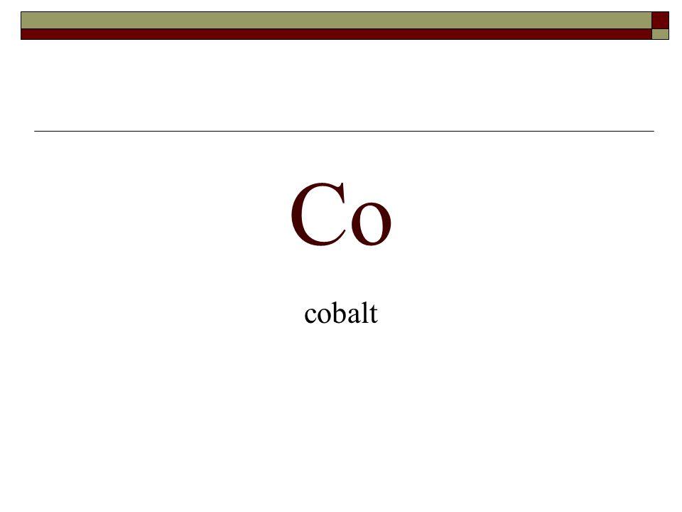 Co cobalt