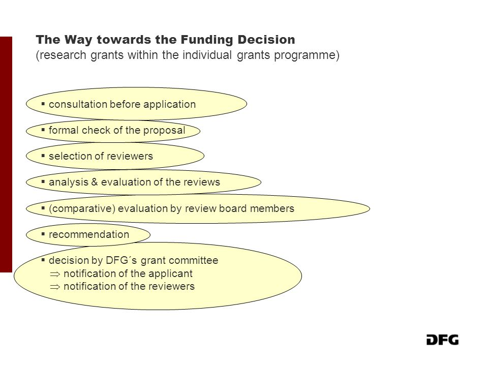 The Way towards the Funding Decision (research grants within the individual grants programme)
