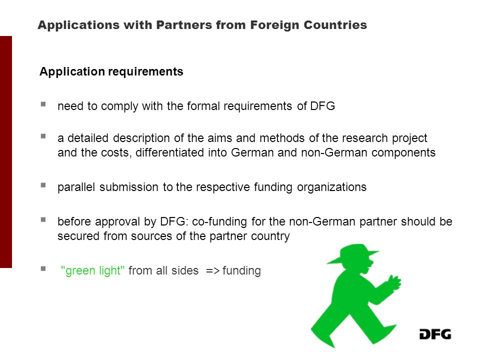 Applications with Partners from Foreign Countries