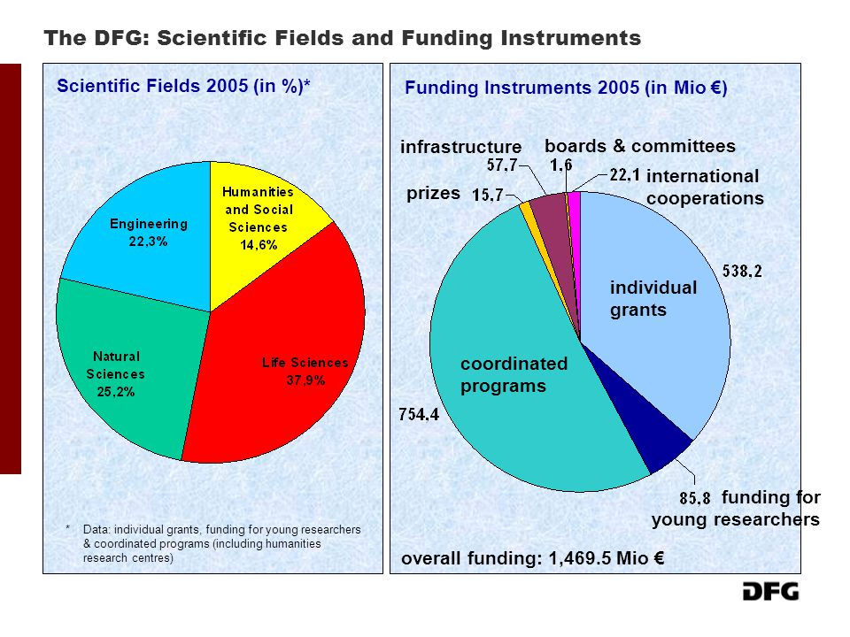 The DFG: Scientific Fields and Funding Instruments