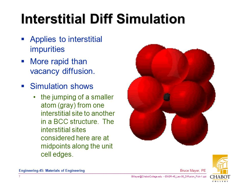 Interstitial Diff Simulation