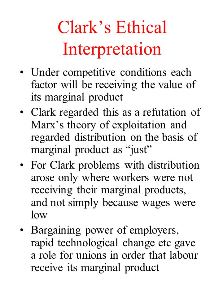 Clark's Ethical Interpretation