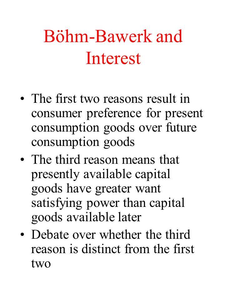 Böhm-Bawerk and Interest