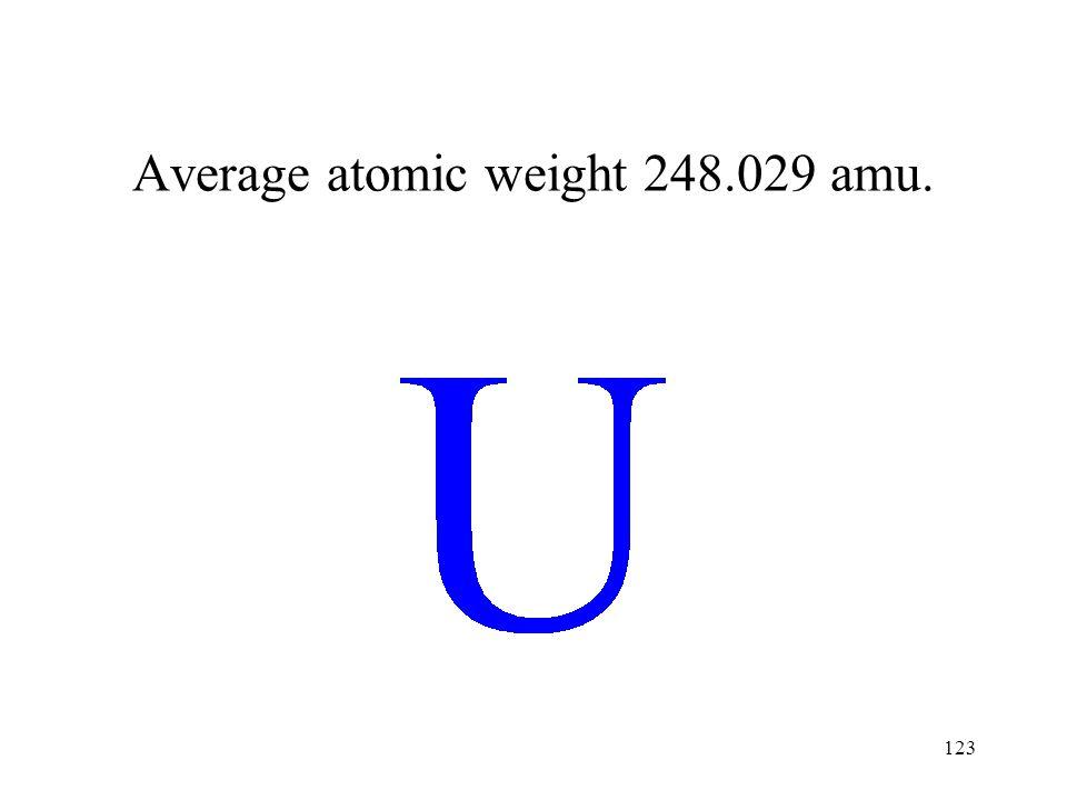 Average atomic weight 248.029 amu.