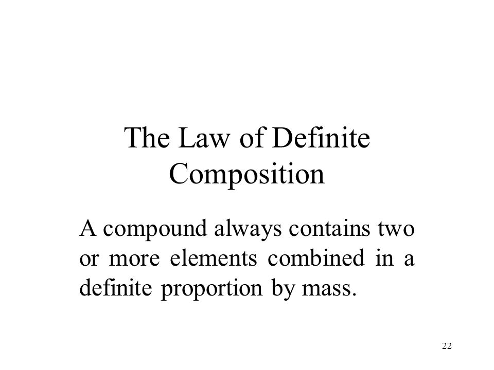 The Law of Definite Composition