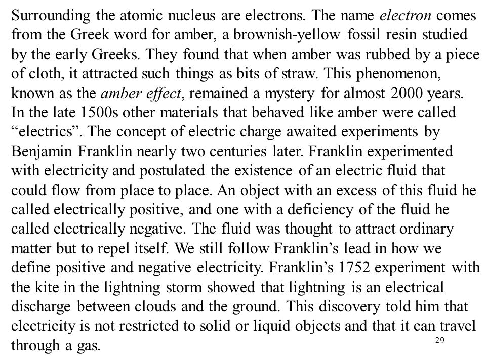 Surrounding the atomic nucleus are electrons
