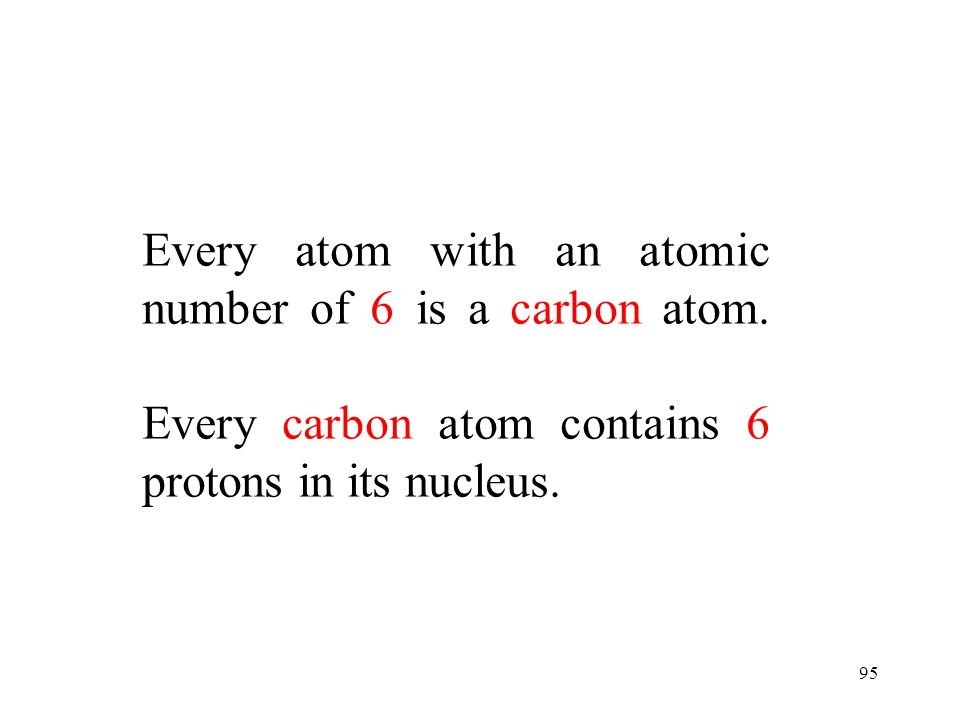 Every atom with an atomic number of 6 is a carbon atom