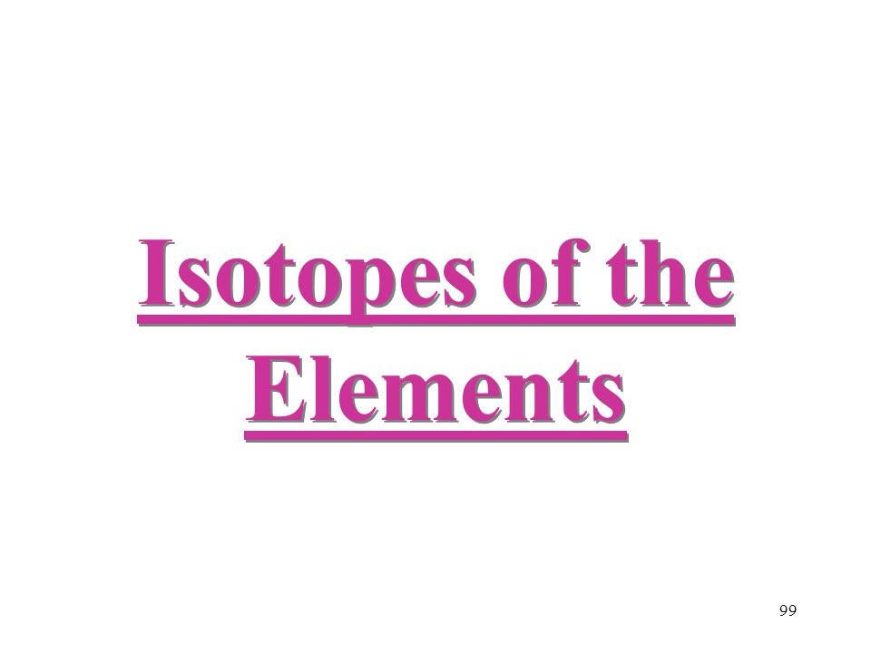 Isotopes of the Elements