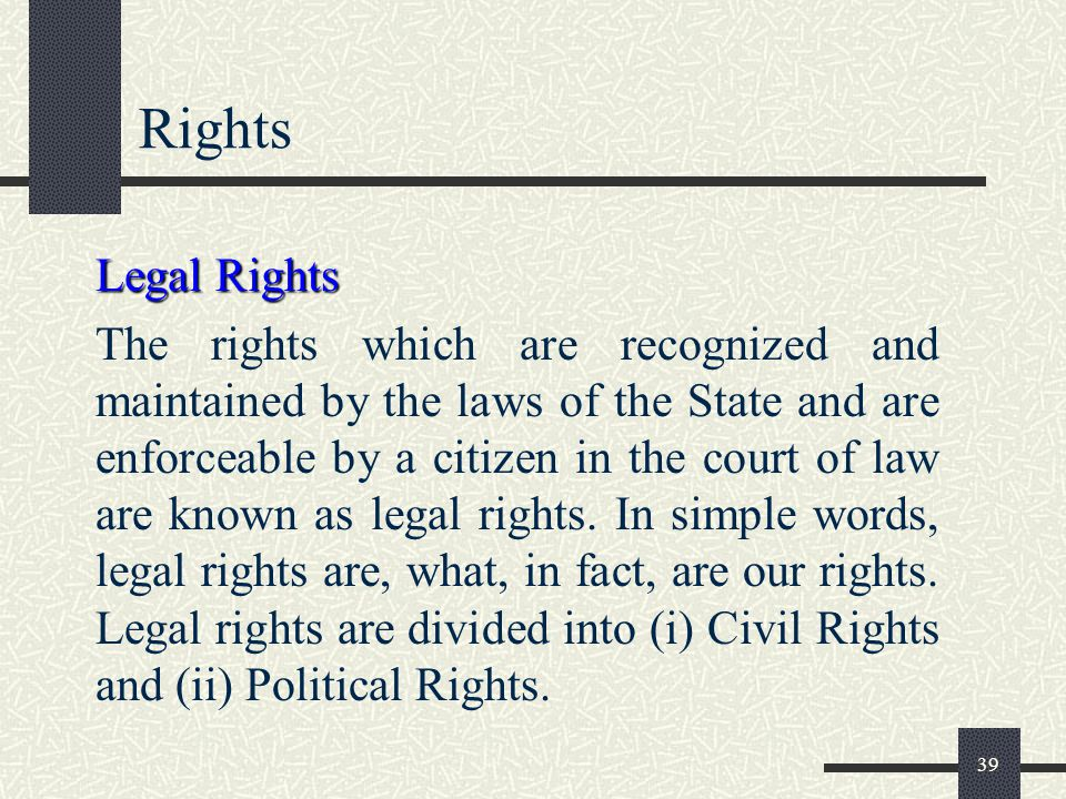 Rights Legal Rights.