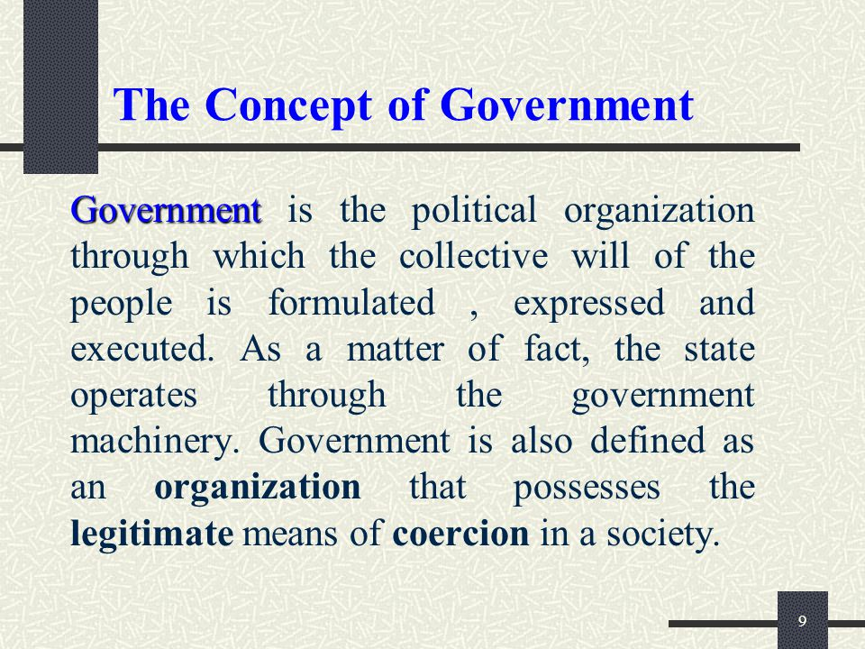 The Concept of Government