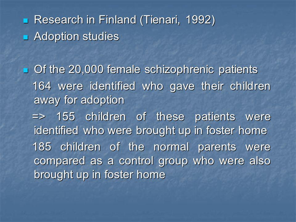 Research in Finland (Tienari, 1992)