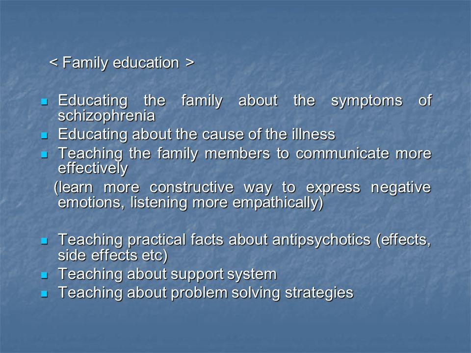 < Family education >