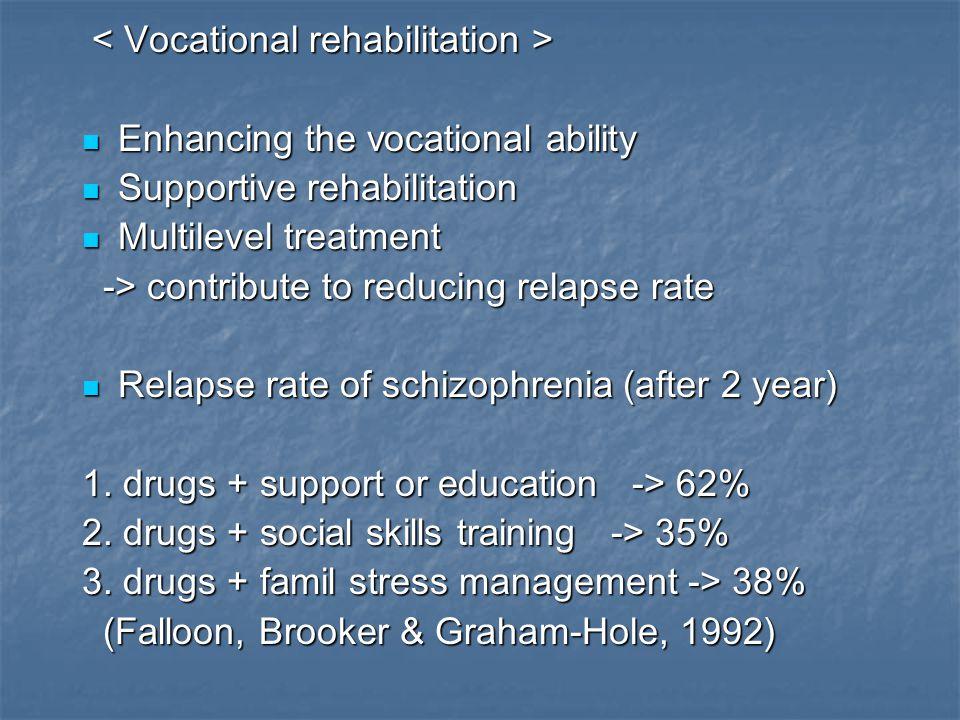 < Vocational rehabilitation >