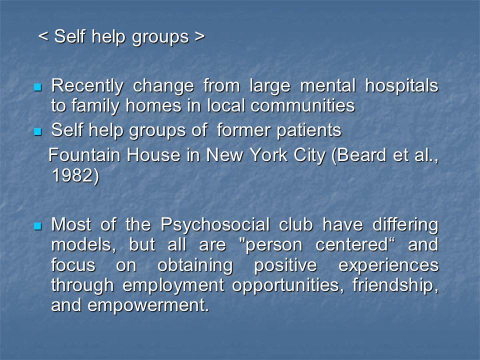 < Self help groups >