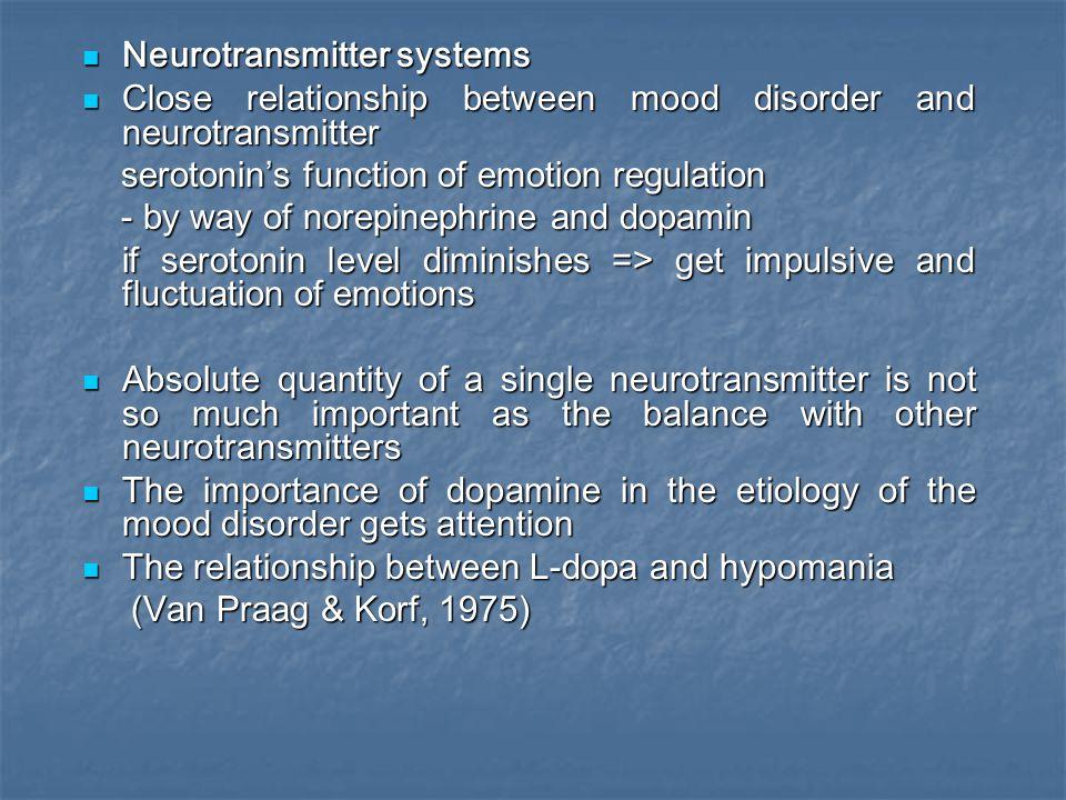 Neurotransmitter systems