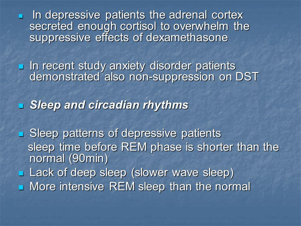 Sleep and circadian rhythms Sleep patterns of depressive patients