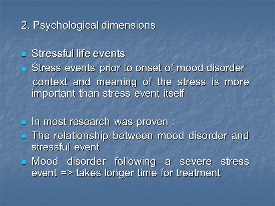 2. Psychological dimensions