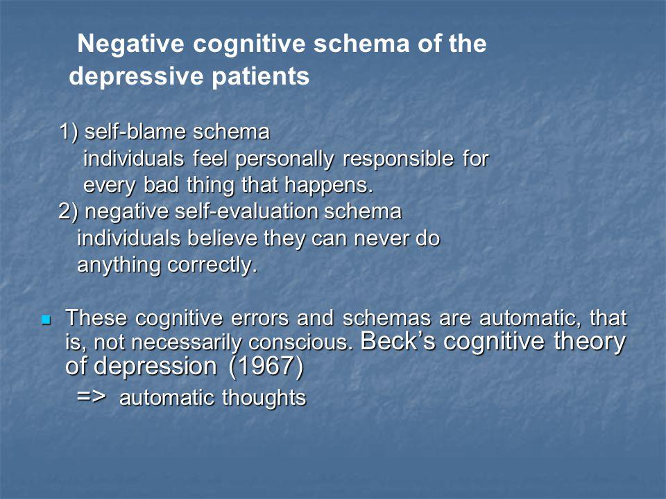 Negative cognitive schema of the
