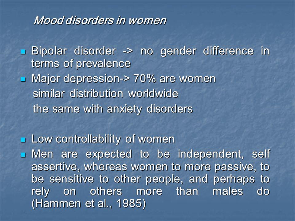 Mood disorders in women