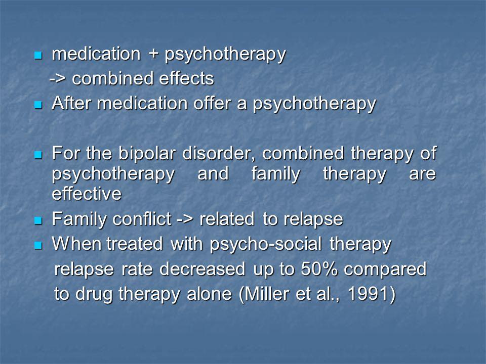 medication + psychotherapy