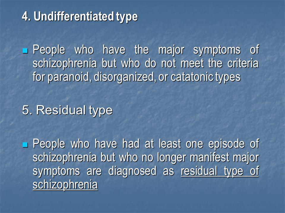 4. Undifferentiated type