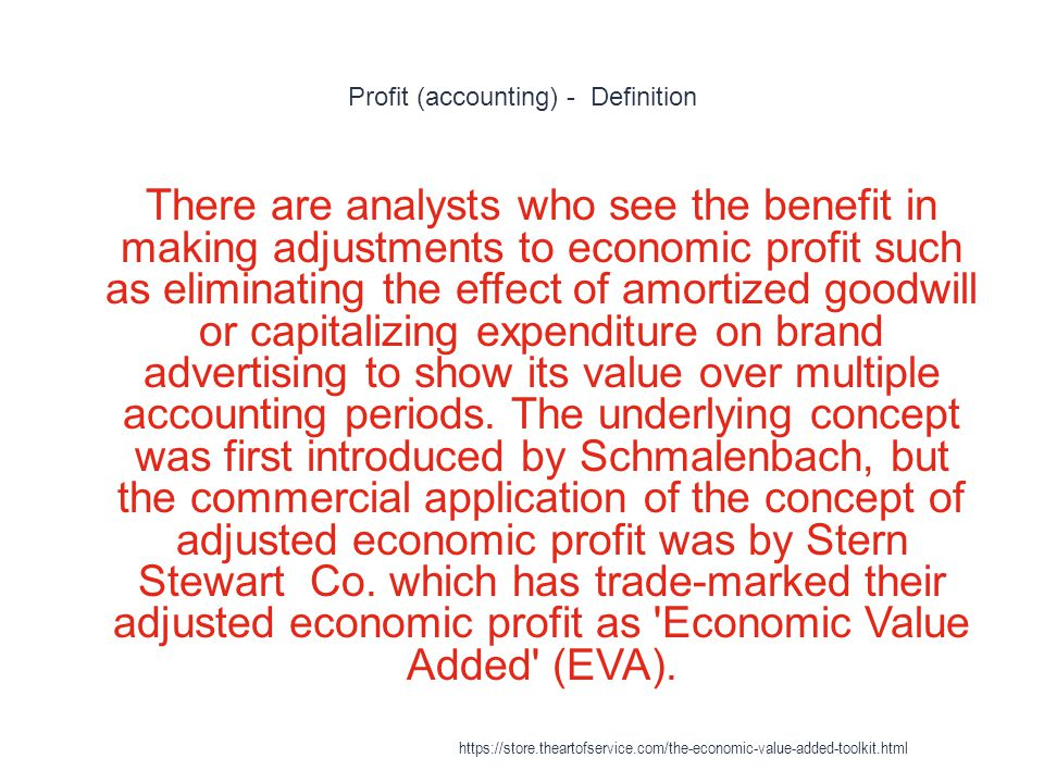 Profit (accounting) - Definition