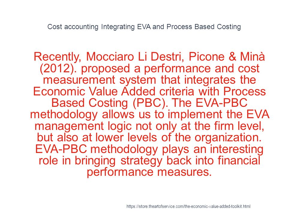 Cost accounting Integrating EVA and Process Based Costing