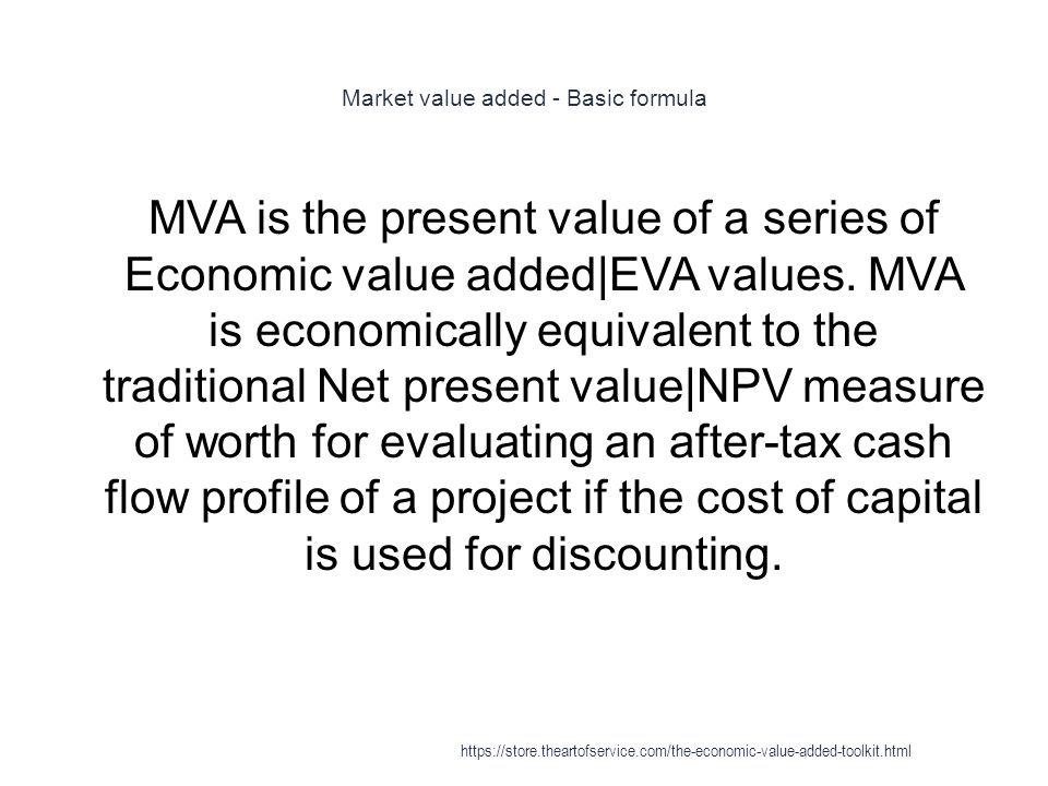 Market value added - Basic formula