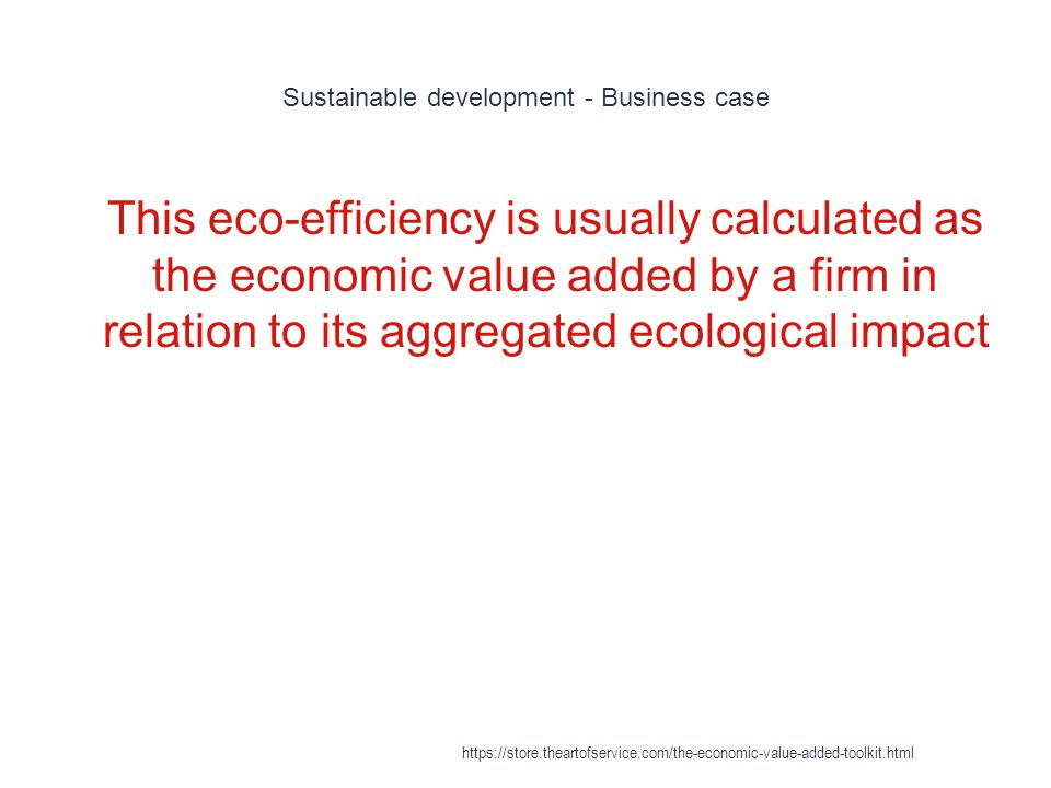 Sustainable development - Business case
