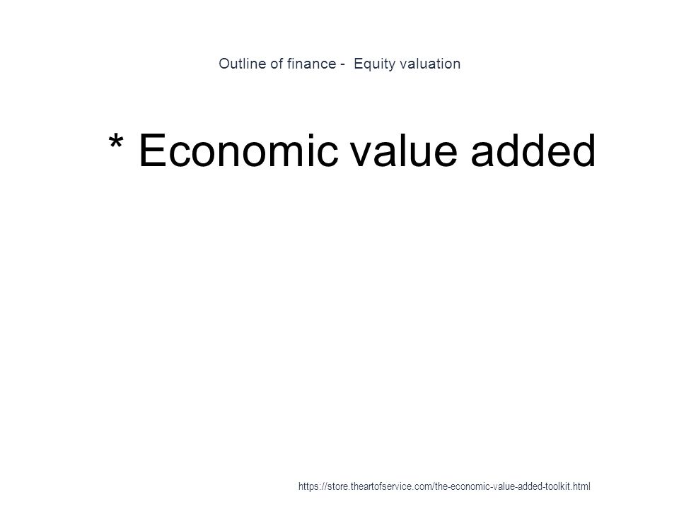 Outline of finance - Equity valuation