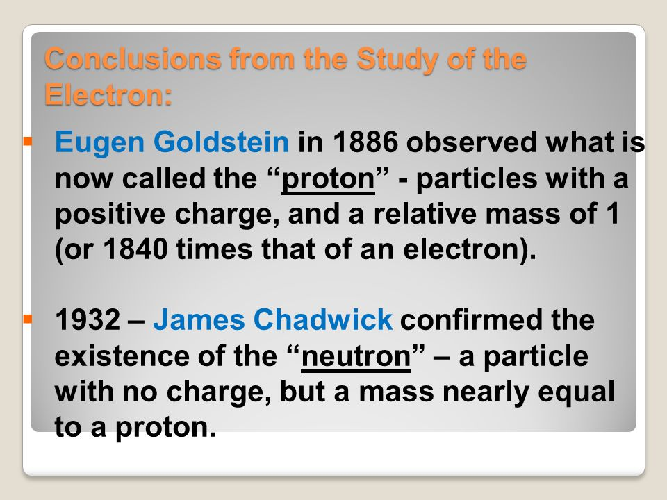 Conclusions from the Study of the Electron: