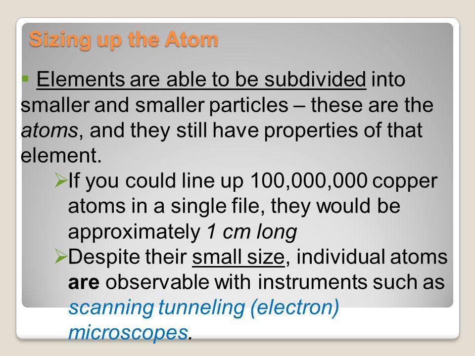 Sizing up the Atom