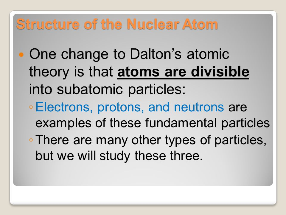 Structure of the Nuclear Atom