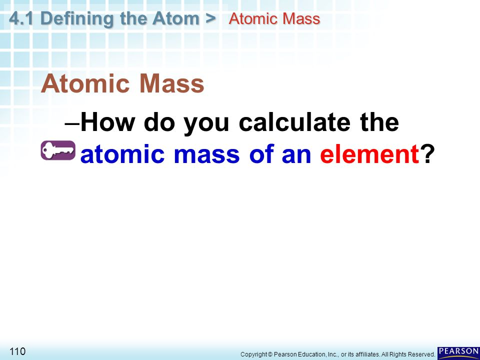 How do you calculate the atomic mass of an element