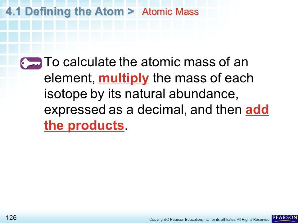 Atomic Mass