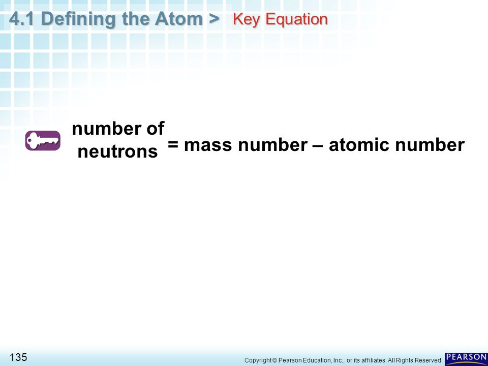 = mass number – atomic number
